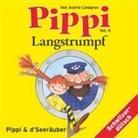 Astrid Lindgren, Heidi Abel - Pippi Langstrumpf - Vol. 4: Pippi Langstrumpf 04. Und d' Seeräuber (Hörbuch)
