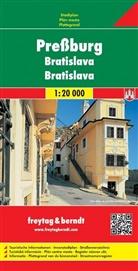 Freytag-Berndt und Artaria KG, Freytag-Bernd und Artaria KG - Freytag Berndt Stadtplan: Freytag & Berndt Stadtplan Preßburg. Bratislava