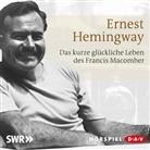 Ernest Hemingway, Margot Müller, Wolfgang Preiß, u.a. - Das kurze und glückliche Leben des Francis Macomber, 1 Audio-CD (Hörbuch)