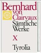 Bernhard von Clairvaux, Bernhard von Clairvaux, Gerhard B Winkler, Gerhard B. Winkler - Sämtliche Werke. Bd.10