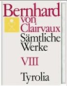 Bernhard von Clairvaux, Bernhard von Clairvaux, Gerhard B Winkler, Gerhard B. Winkler - Sämtliche Werke. Bd.8