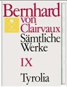 Bernhard von Clairvaux, Bernhard von Clairvaux, Gerhard B Winkler, Gerhard B. Winkler - Sämtliche Werke. Bd.9