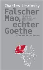 Charles Lewinsky, Thomas DiPaolo - Falscher Mao, echter Goethe