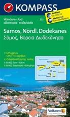 KOMPASS-Karte GmbH - Kompass Karten: KOMPASS Wanderkarte Samos - Nördlicher Dodekanes
