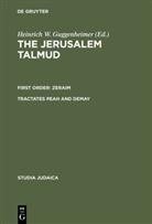 Heinrich W. Guggenheimer, Heinrich W. Guggenheimer - The Jerusalem Talmud: Zeraim: Tractates Peah and Demay