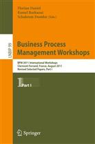 Kame Barkaoui, Kamel Barkaoui, Florian Daniel, Schahram Dustdar, Shahram Dustdar - Business Process Management Workshops