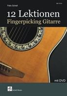 Felix Schell - 12 Lektionen Fingerpicking Gitarre, m. DVD