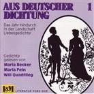Maria Becker, Maria Fein, Will Quadflieg - Aus deutscher Dichtung, 1 CD-Audio. Tl.1 (Hörbuch)