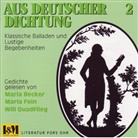 Maria Becker, Will Quadflieg, Maria Becker, Maria Fein, Will Quadflieg - Aus deutscher Dichtung, 1 CD-Audio. Tl.2 (Hörbuch)