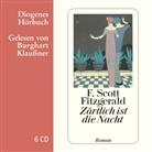 F Scott Fitzgerald, F. Scott Fitzgerald, Burghart Klaußner - Zärtlich ist die Nacht, 6 Audio-CD (Hörbuch)