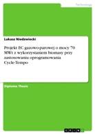 Lukasz Niedzwiecki - Projekt EC gazowo-parowej o mocy 70 MWt z wykorzystaniem biomasy przy zastosowaniu oprogramowania Cycle-Tempo