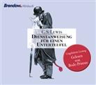 C S Lewis, C. S. Lewis, Clive St. Lewis, Bodo Primus - Dienstanweisung für einen Unterteufel, 4 Audio-CDs (Hörbuch)