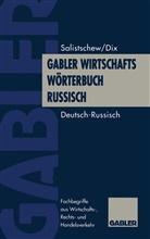 Hannes Dix, Wiatscheslaw Salistschew, Wjatschesla Salistschew, Wjatscheslaw Salistschew - Gabler Wirtschaftswörterbuch Russisch. Bd.1