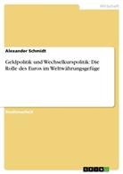 Alexander Schmidt - Geldpolitik und Wechselkurspolitik: Die Rolle des Euros im Weltwährungsgefüge