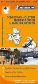 MICHELI - Michelin Karten - Bl.541: Michelin Karte Schleswig-Holstein, Niedersachsen, Hamburg, Bremen. Allemagne Nord-Ouest