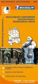 MICHELI, MICHELIN - Michelin Karten - Bl.542: Michelin Karte Mecklenburg-Vorpommern, Sachsen-Anhalt, Brandenburg, Berlin. Allemagne Nord-Est