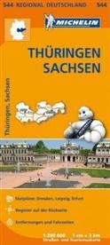 MICHELI - Michelin Karten - Bl.544: Michelin Karte Thüringen, Sachsen. Allemagne Centre-Est