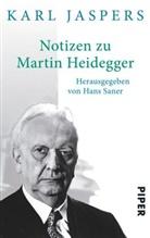 Karl Jaspers, Han Saner, Hans Saner - Notizen zu Martin Heidegger