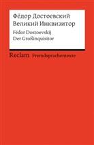 Fedor Dostoevskij, Fëdor Dostoevskij, Fjodor M. Dostojewskij, Wolfgan Schriek, Wolfgang Schriek - Velikij Inkvizitor