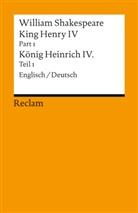 William Shakespeare, Holger M. Klein, Holge M Klein - King Henry IV, Part 1 / Heinrich IV., Teil 1. Pt./Bd.1