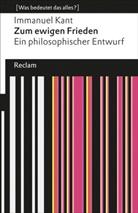 Immanuel Kant, Rudol Malter, Rudolf Malter - Zum ewigen Frieden