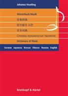 Johanna Heutling - Wörterbuch Musik / Dictionary of Music, 6-sprachig