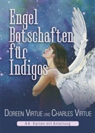 Charles Virtue, Doreen Virtue - Engel-Botschaften für Indigos, Orakelkarten m. Begleitbuch