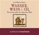 Karl Wilhelm Weeber, Karl-Wilhelm (Prof. Dr.) Weeber, Martin Falk - Wasser, Wein & Öl, 1 Audio-CD (Hörbuch)
