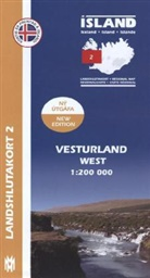 Island - Landshlutakort Vesturland (West)