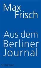 Max Frisch, Strässl, Thoma Strässle, Thomas Strässle, Unse - Aus dem Berliner Journal