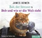 James Bowen, Carlos Lobo - Bob, der Streuner & Bob und wie er die Welt sieht, 4 Audio-CDs (Hörbuch)