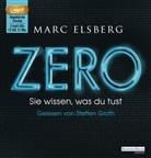 Marc Elsberg, Steffen Groth - ZERO - Sie wissen, was du tust, 2 Audio-CD, (Hörbuch)