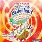 Neil Gaiman, Andreas Fröhlich - Die verrückte Ballonfahrt mit Professor Stegos Total-locker-in-der-Zeit-Herumreisemaschine, 1 Audio-CD (Hörbuch)