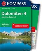 Eugen E Hüsler, Eugen E. Hüsler - Kompass Wanderführer Dolomiten, m. Karte. Tl.4