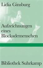 Lidia Ginsburg - Aufzeichnungen eines Blockademenschen