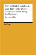 Hors Brunner, Horst Brunner - Von achtzehn Wachteln und dem Finkenritter