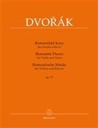 Antonin Dvorak, Antonín Dvorak, Antonín Dvorák, Karel �olc, Antonín Pokorny, Antonín Pokorný... - Romantische Stücke (Romantické kusy) op. 75 für Violine und Klavier