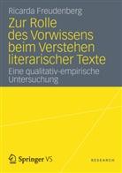 Ricarda Freudenberg - Zur Rolle des Vorwissens beim Verstehen literarischer Texte
