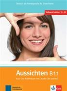 Sabin Jentges, Sylvi Klötzer, Ang Lundquist-Mog - Aussichten - B1.1: Kurs- und Arbeitsbuch, m. 2 Audio-CDs u. DVD