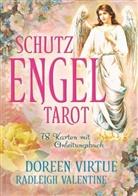 Valentine, Radleigh Valentine, Virtue, Doreen Virtue - Schutzengel-Tarot, 38 Ktn. und Anleitungsbuch
