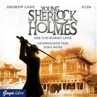 Andrew Lane, Jona Mues - Young Sherlock Holmes - Der Tod kommt leise, 3 Audio-CDs (Hörbuch)