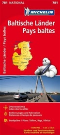 Carte nationale 781, Michelin - Pays baltes 1:500 000 -ancienne édition-