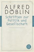 Alfred Döblin - Schriften zur Politik und Gesellschaft