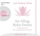 Jon Kabat-Zinn, Carsten Fabian - Im Alltag Ruhe finden, 1 Audio-CD (Hörbuch)