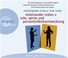 Friedemann Schulz von Thun, Christian Baumann, Ursula Berlinghof, Gabriele Gerlach, Philipp Kreisselmeier, Andreas Neumann - Miteinander reden. Tl.2, 4 Audio-CD (Hörbuch)