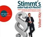 Volker Kitz, Volker (Dr.) Kitz, Philipp Schepmann - Stimmt's oder hab ich Recht?, 6 Audio-CD (Hörbuch)