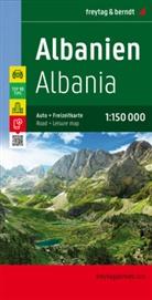 Freytag-Berndt und Artaria KG, Freytag-Bernd und Artaria KG - Freytag & Berndt Autokarte Albanien, Top 10 Tips 1:150.000. Albania / Shqiperia / Albanie