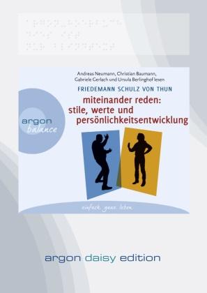 Friedemann Schulz von Thun, Christian Baumann - Miteinander reden. Tl.2, 1 Audio-CD, MP3 (Hörbuch) - Stile, Werte und Persönlichkeitsentwicklung. Differentielle Psychologie der Kommunikation. Gekürzte Lesung