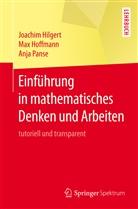 Joachi Hilgert, Joachim Hilgert, Ma Hoffmann, Max Hoffmann, Anja Panse - Einführung in mathematisches Denken und Arbeiten