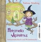 Sabine Städing, Büchner Sabine, Nana Spier - Petronella Apfelmus - Schneeballschlacht und Wichtelstreiche, 2 Audio-CDs (Hörbuch)